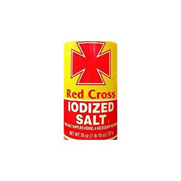 Red Cross Iodized Salt This Salt Supplies Iodide 26 Oz. Pack Of 3.