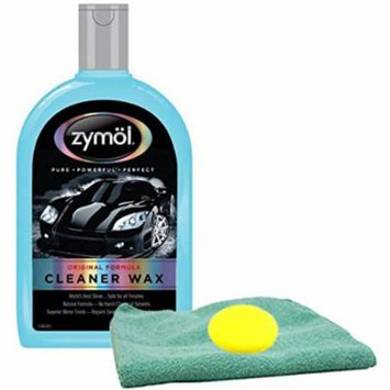 Zymol Natural Liquid Cleaner Wax (16 oz) Bundled with Microfiber Cloth & Foam Pad (3 Items)
