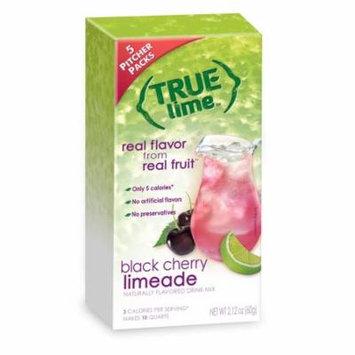 True Lemon Drink Mix, 2.12 Oz, Black Cherry Limeade, 5 Pitcher Packs (Pack of 1)
