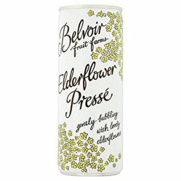Belvoir Elderflower Presse Sparkling Premium Beverage - 250 Ml (Pack of 24)