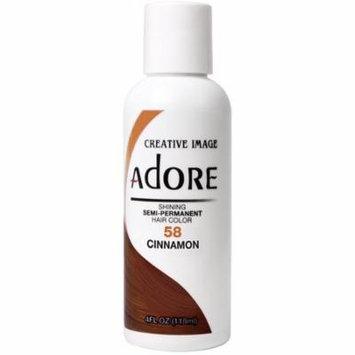 2 Pack - Creative Images Systems Adore Semi-Permanent Haircolor, [058] Cinnamon 4 oz
