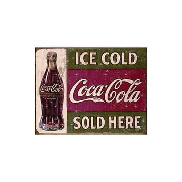 Ice Cold Coke Tin Sign