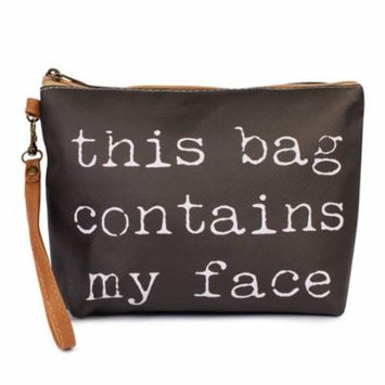 Riah Fashion MY FACE WRISTLET MAKEUP BAG
