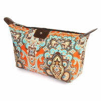 Riah Fashion ORANGE MANDALA COSMETIC BAG