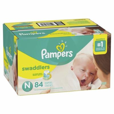 Pampers Swaddlers Newborn Diapers Size N, 84 Count