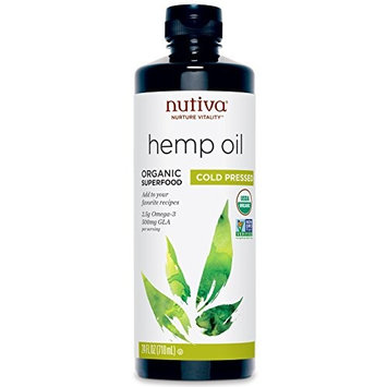 Nutiva Organic Hemp RaJQG Oil - 24 Ounce (3 Pack) lehCw