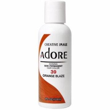 4 Pack - Creative Images Systems Adore Semi-Permanent Haircolor [039] Orange Blaze 4 oz