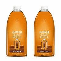 Method Squirt + Mop Hardwood Floor Cleaner Refill, Almond, 68 Ounce - 2 Pack