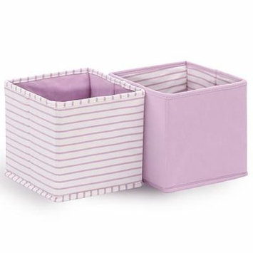 Baby Nursery Collapsible Storage Totes / Bins 2-Pack in Purple by The Peanut Shell