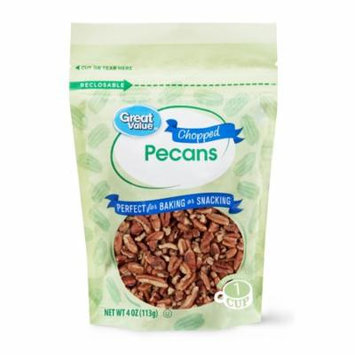 Great Value Chopped Pecans, 4 oz