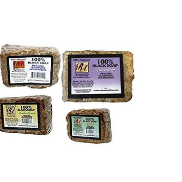 Ra Cosmetics 100% Black Soap (4 Pack Variety) 5 oz Each