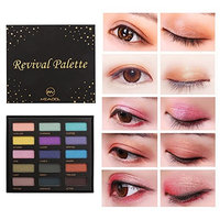 eroute66 15 Colors Glitter Effect Long Lasting Shimmer Eyeshadow Palette for Makeup