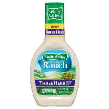 Hidden Valley Three Herb Ranch Salad Dressing & Topping - Gluten Free - 16oz Bottle