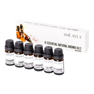 Zoe Ayla 6-Pack Essential Natural Aroma Therapy Oils