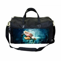 Under the Sea Turtle Large Black Duffel Style Diaper Baby Bag