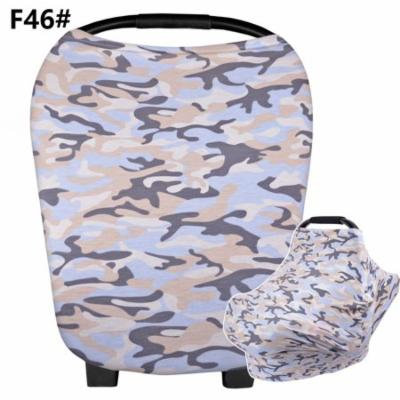 New Multi-Use Stretchy Infinity Scarf Baby Car Seat Cover Nursing Cover Breastfeeding Shopping Cart Cover High Chair Cover(Pattern)