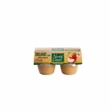 North Coast Organic Apple Sauce 4 Pk Cups 16 oz (Pack of 12)