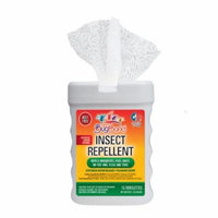 BugBand Insect Repellent Towelette 15-Count Tub (Case of 12)