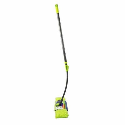 """Microfiber Floor Mop-Duster   Dual Side Action Wet 'N Dry   Dusts and Mops   Telescopic and Flexible Pole Adjusts to 66.5"""" High   by Homiom (Mop)"""