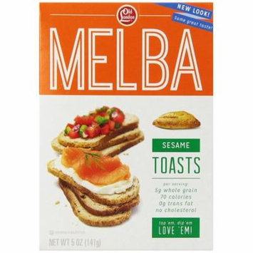 Old London Melba Toasts, Sesame, 5 Ounce Pack of 4