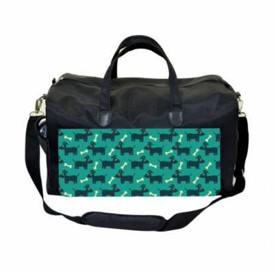 Doggies and Bones Large Black Duffel Style Diaper Baby Bag