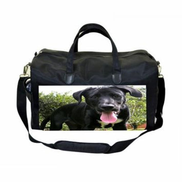 Waggy Dog Large Black Duffel Style Diaper Baby Bag