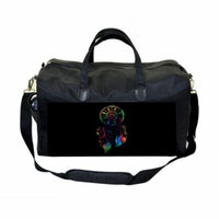 Watercolor Dreamcatcher Large Black Duffel Style Diaper Baby Bag