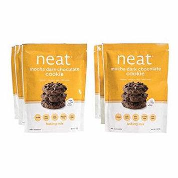 neat - Vegan - Mocha Dark Chocolate Cookie Mix (9.5 oz.) (Pack of 6) - Non-GMO, Gluten-Free, Soy Free, Baking Mix