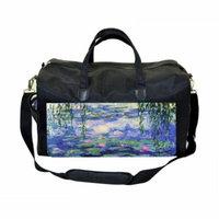 Monet Nympheas Large Black Duffel Style Diaper Baby Bag