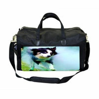 Playful Puppy Large Black Duffel Style Diaper Baby Bag