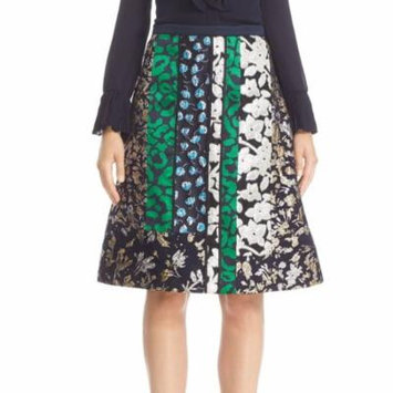 Oscar de la Renta Women's A-Line Floral Skirt