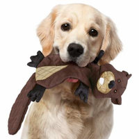 Strong Chew Resistant Plush Dog Toys, Stuffing-Free, Beaver