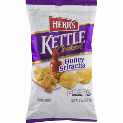 Herr's Kettle Cooked Honey Sriracha Potato Chips 7.5 oz. (3 Bags)