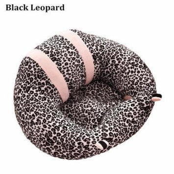 Baby Sofa Learn Sitting Chair Nursery Support Seat Pillow Protector Plush Cushion Toys for Toldder Infant Leopard