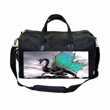Dragon Large Black Duffel Style Diaper Baby Bag