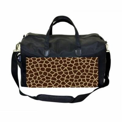 Animal Print Large Black Duffel Style Diaper Baby Bag