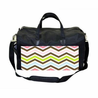 Chevrons Large Black Duffel Style Diaper Baby Bag