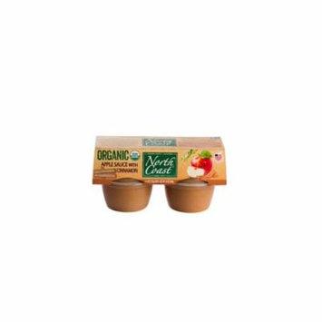 North Coast Organic Apple Sauce with Cinnamon 4 Pk Cups 16 oz (Pack of 12)