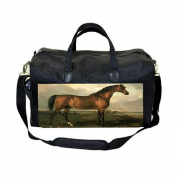 Artist James Ward Horses Painting Large Black Duffel Style Diaper Baby Bag