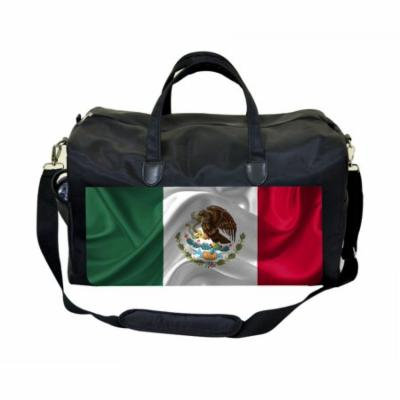 Mexican Flag Large Black Duffel Style Diaper Baby Bag