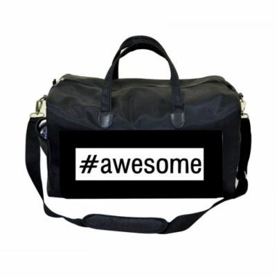 #Awesome Large Black Duffel Style Diaper Baby Bag