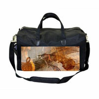Musical Violin Art Large Black Duffel Style Diaper Baby Bag
