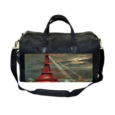Eiffel Tower Painting Print Large Black Duffel Style Diaper Baby Bag