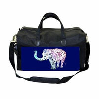 Elephant Art Large Black Duffel Style Diaper Baby Bag