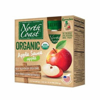 North Coast Organic Apple Sauce 4 Pk Pouches 12.8 oz (Pack of 6)