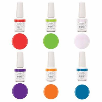 Gelish Mini Makin' A Splash 6 Pack Summer Edition Soak Off Gel Nail Polish Kit