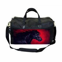 Horse Painting Large Black Duffel Style Diaper Baby Bag
