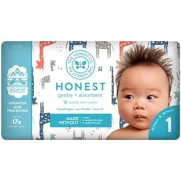 Honest Company Diapers, Multi Colored Giraffes Size 1
