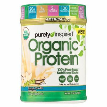 Purely Inspired 100% Plant-Based Protein Nutritional Shake French Vanilla1.5 lbs(pack of 4)