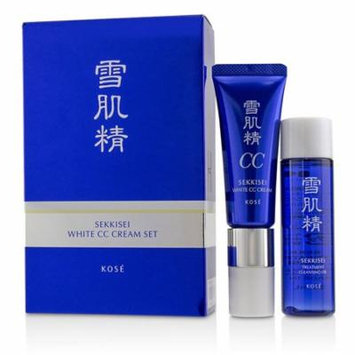 Kose Sekkisei White CC Cream Set: Sekkisei White CC Cream SPF50+ PA++++ - # 01 Light Ochre 26ml/1oz + Sekkisei Treatment Cleansing Oil 35ml/1.1oz